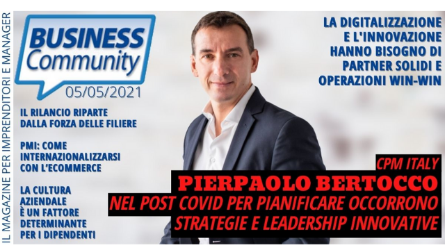 PIERPAOLO BERTOCCO: INNOVATIVE STRATEGIES AND LEADERSHIP ARE A MUST FOR POST-COVID PLANNING